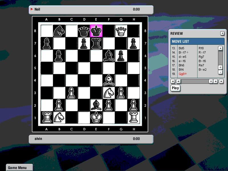 下国际象棋终于赢了一局啦,哇咔咔