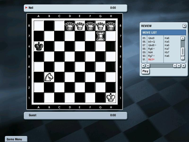 无聊,下国际象棋,五个皇后逼死他!