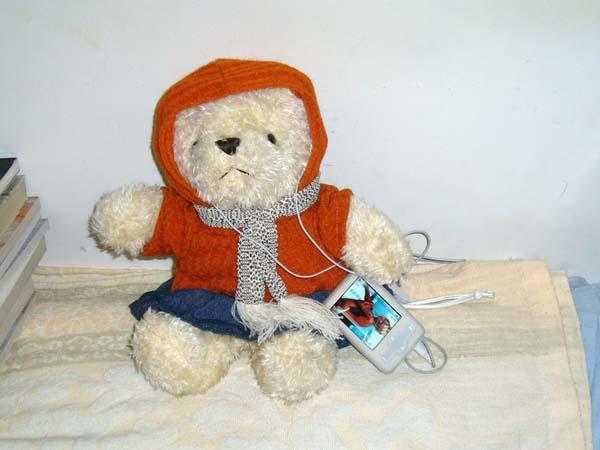 换了眼镜架,买了个小熊