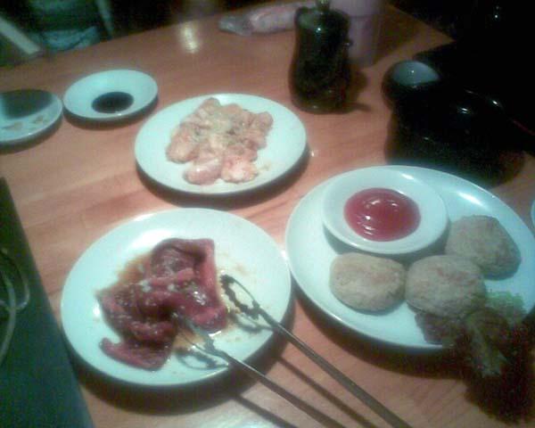 十二日 回転寿司と七輪焼肉